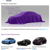 Cars.com names Best of 2015 car and pickup truck nominees just in time