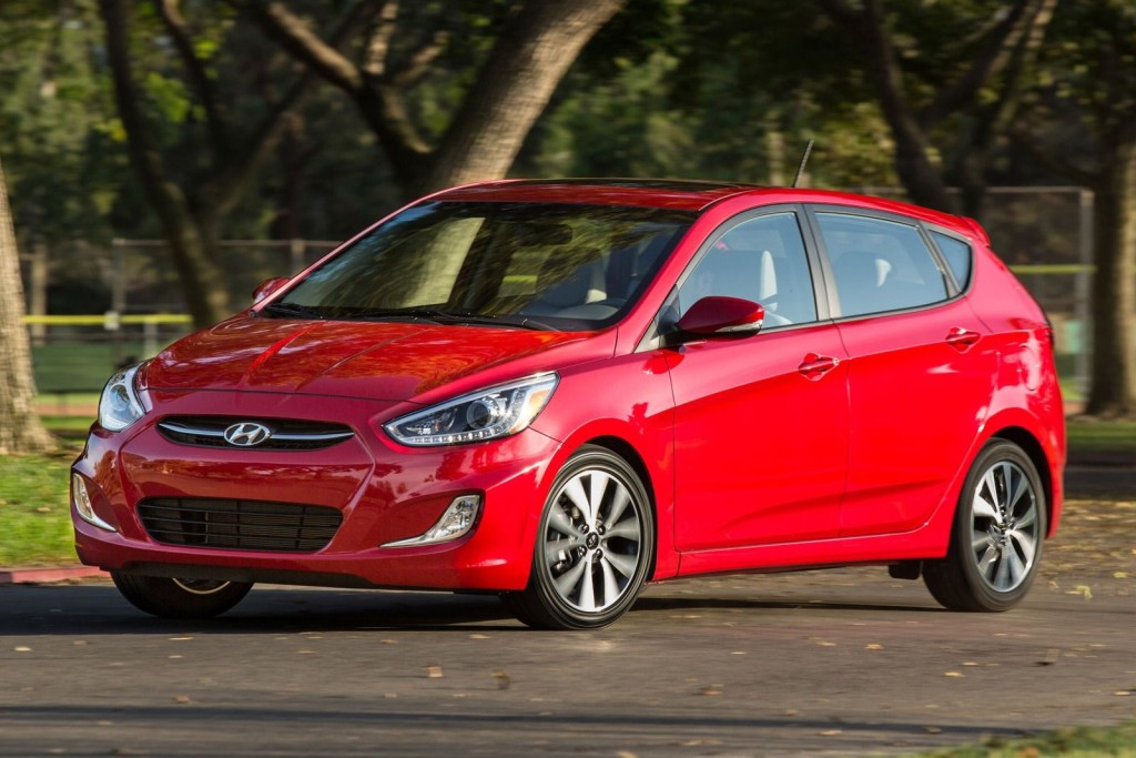 2015 Hyundai Accent hatchback. Photo: cars.axlegeeks.com