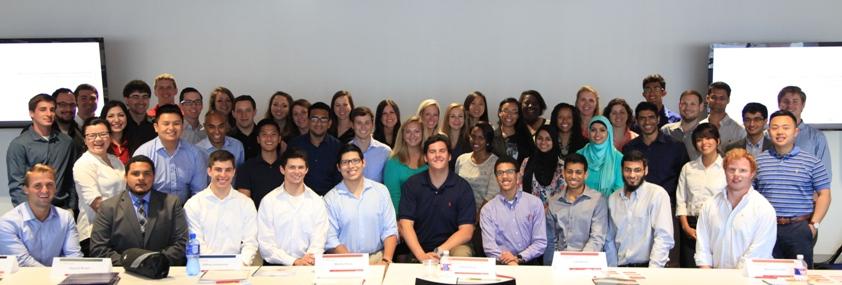 The Santander Consumer USA internship class of 2015.