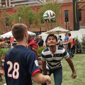Photo: Matthew Hoffer A soccer workout at WAS Week 2014 event.