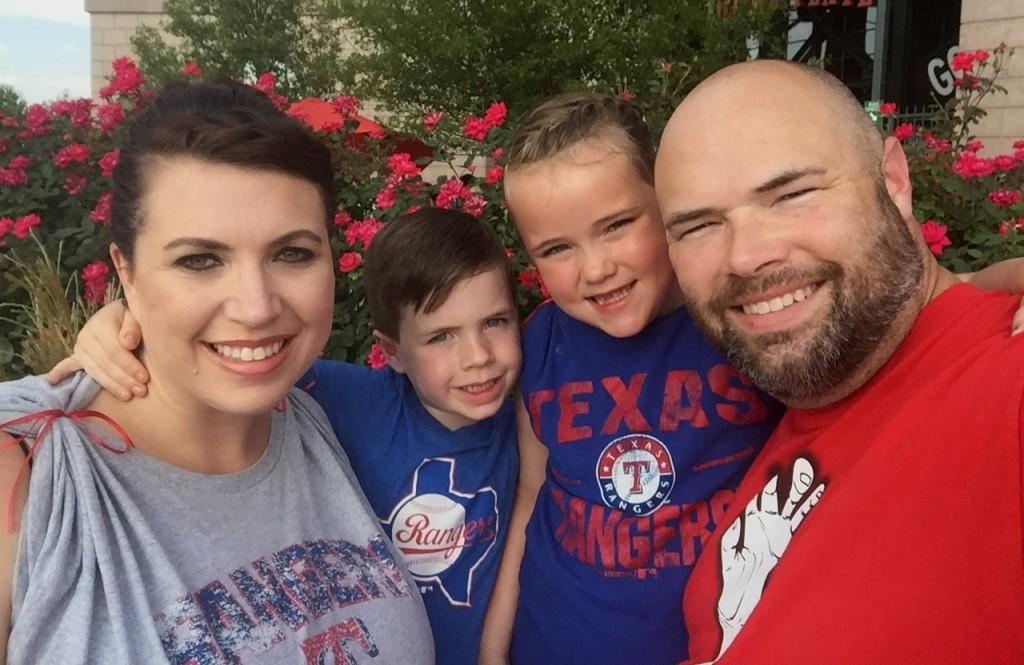 A family affair Sunday during Rally Night at Globe Life Park.