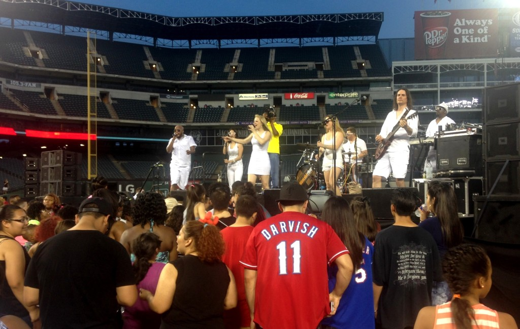 Photo: LaQuenda Jackson The Rally Night crowd was entertained by Downtown Fever at Globe Life Park.