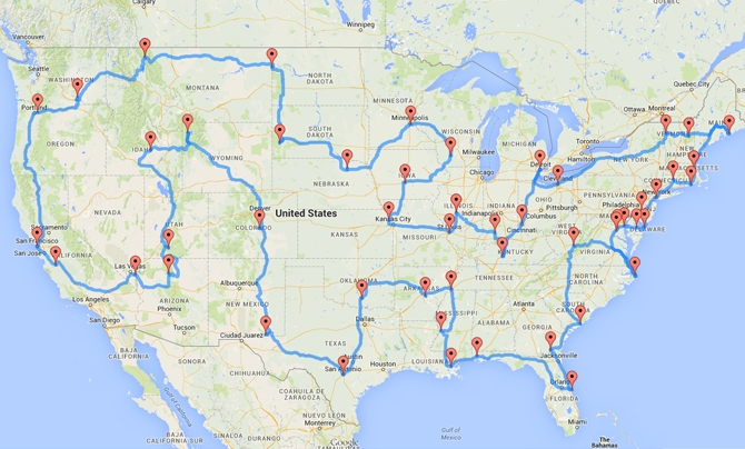 Ultimate US Road Trip Takes In States And Nations Capital - Nations and capitals