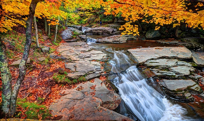 Kaaterskill Creek in the New York Catskill Mountains.