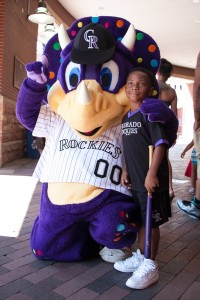 Dinger and a guest at SCUSA event in Denver.