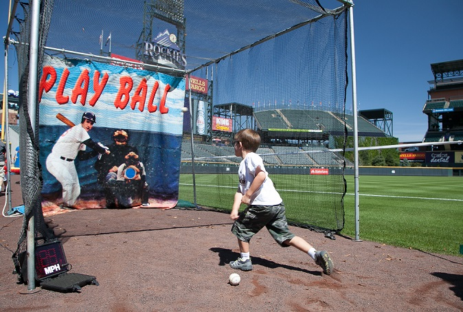Hudson Doane goes for a perfect pitch at Coors Field.