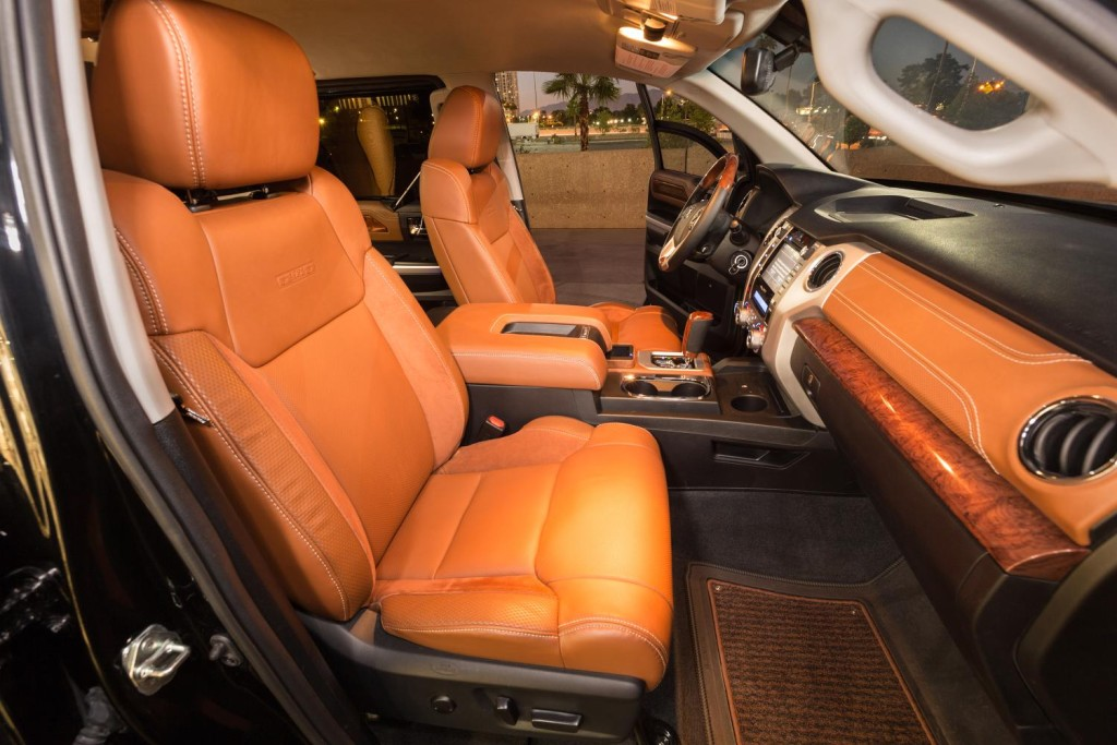 Photo: Toyota Tundrasine interior inspired by luxury private jets.