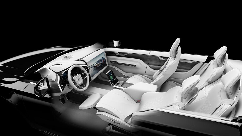 Volvo Concept 26 autonomous car interior design.