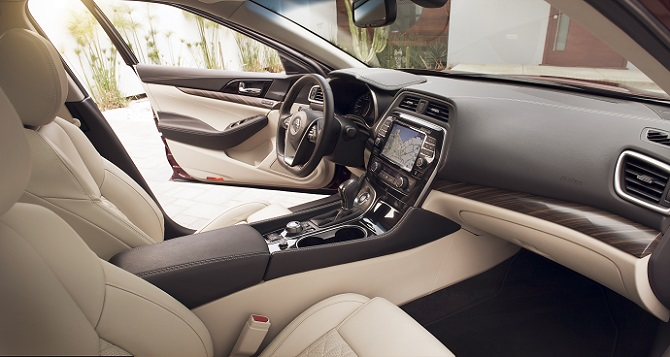 "Nissan Maxima: ""This interior makes a brilliant first impression,"" said Tom Murphy of WardsAuto."