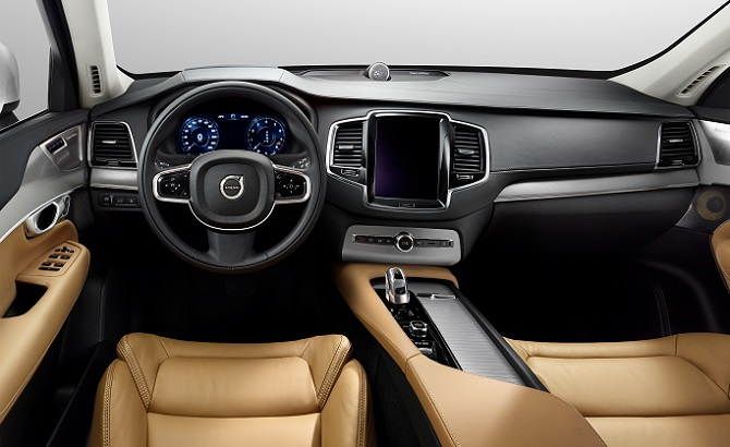"Volvo XC90: ""The XC90 interior arguably makes the most dramatic styling statement in this year's competition, leveraging a uniquely Scandinavian sensibility."""