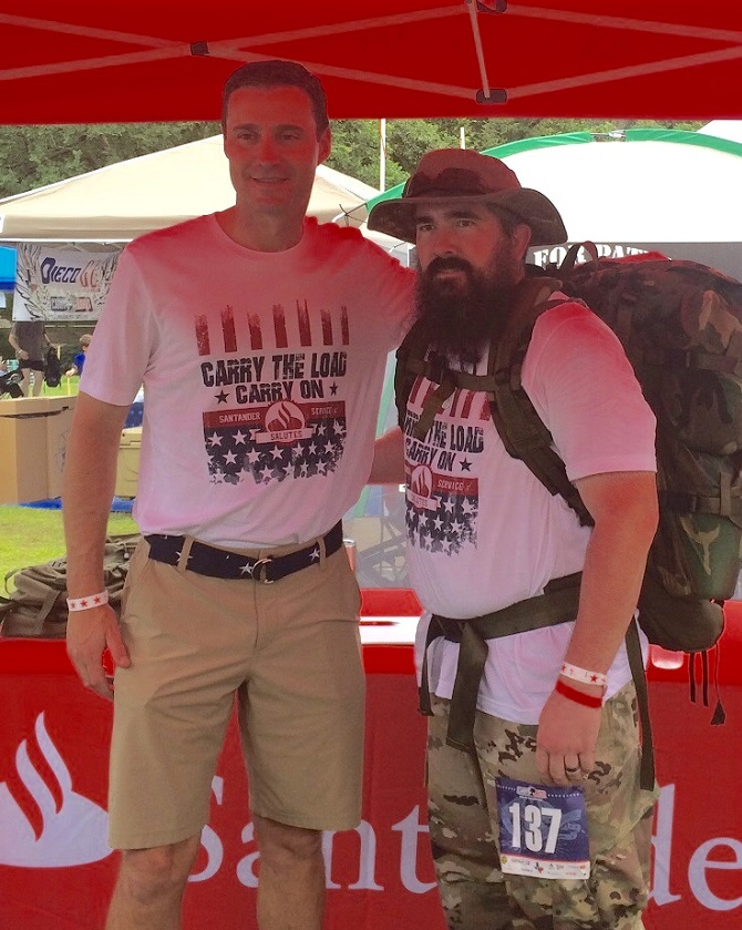 CEO Jason Kulas spends a few moments with C. Jason Harmon at Carry The Load.