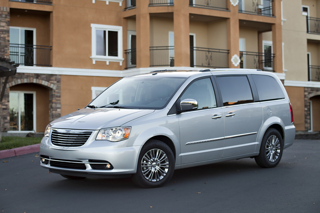 The Chrysler Town & Country was built with 77 percent American-made parts.