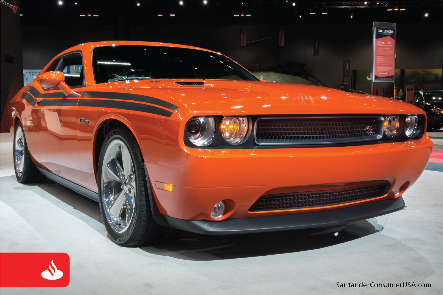 Orange cars such as this 2013 Dodge Challenger hold their value better than average.