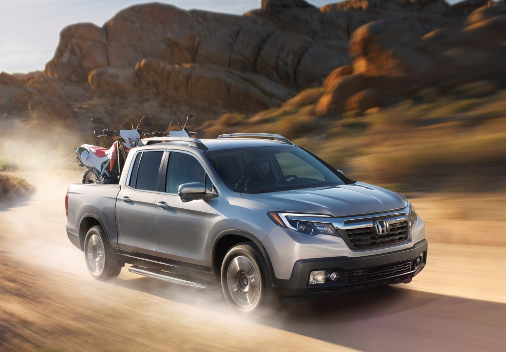 The Honda Ridgeline pickup rated in IIHS's top seven vehicles.