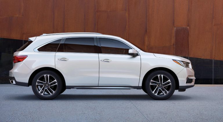 The Acura MDX scored in the three-row luxury SUV category.