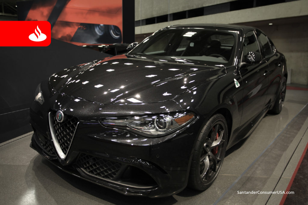The Alfa Romeo Giulia at last year's DFW Auto Show.