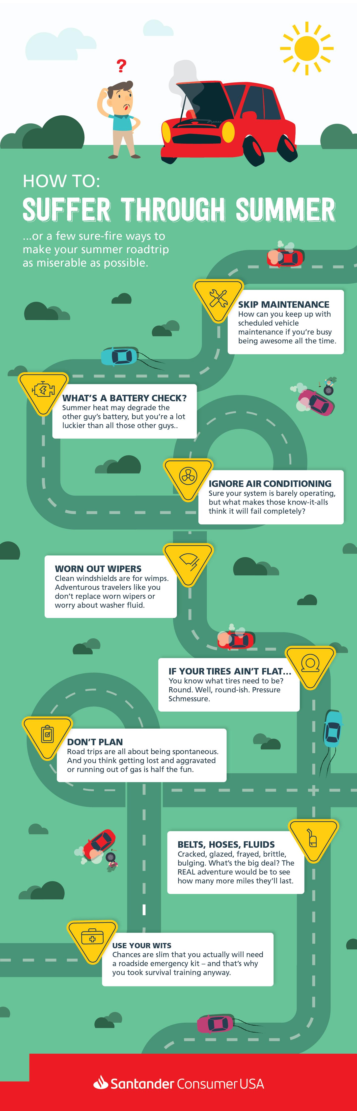 Suffer through summer infographic