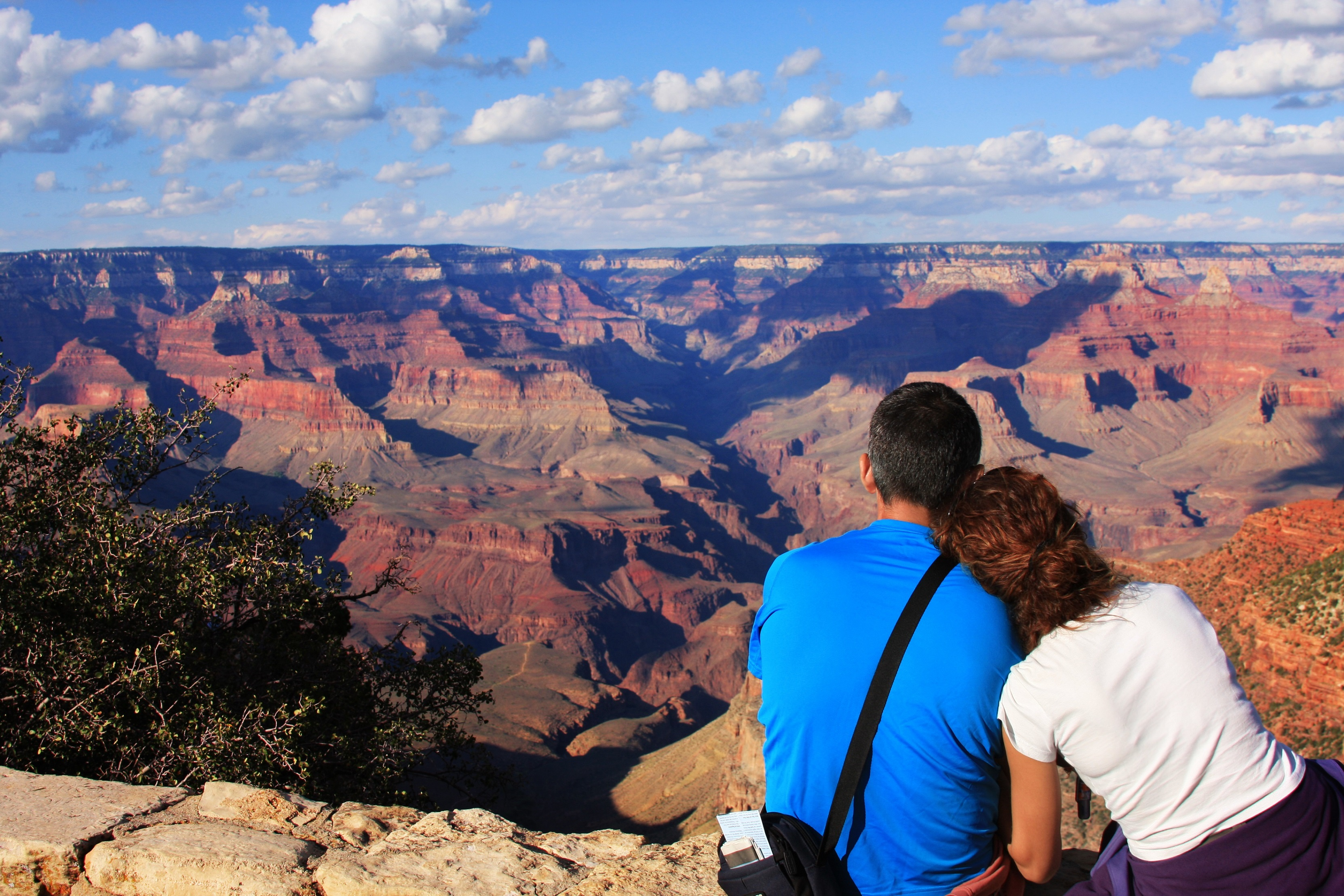Couple viewing Grand Canyon