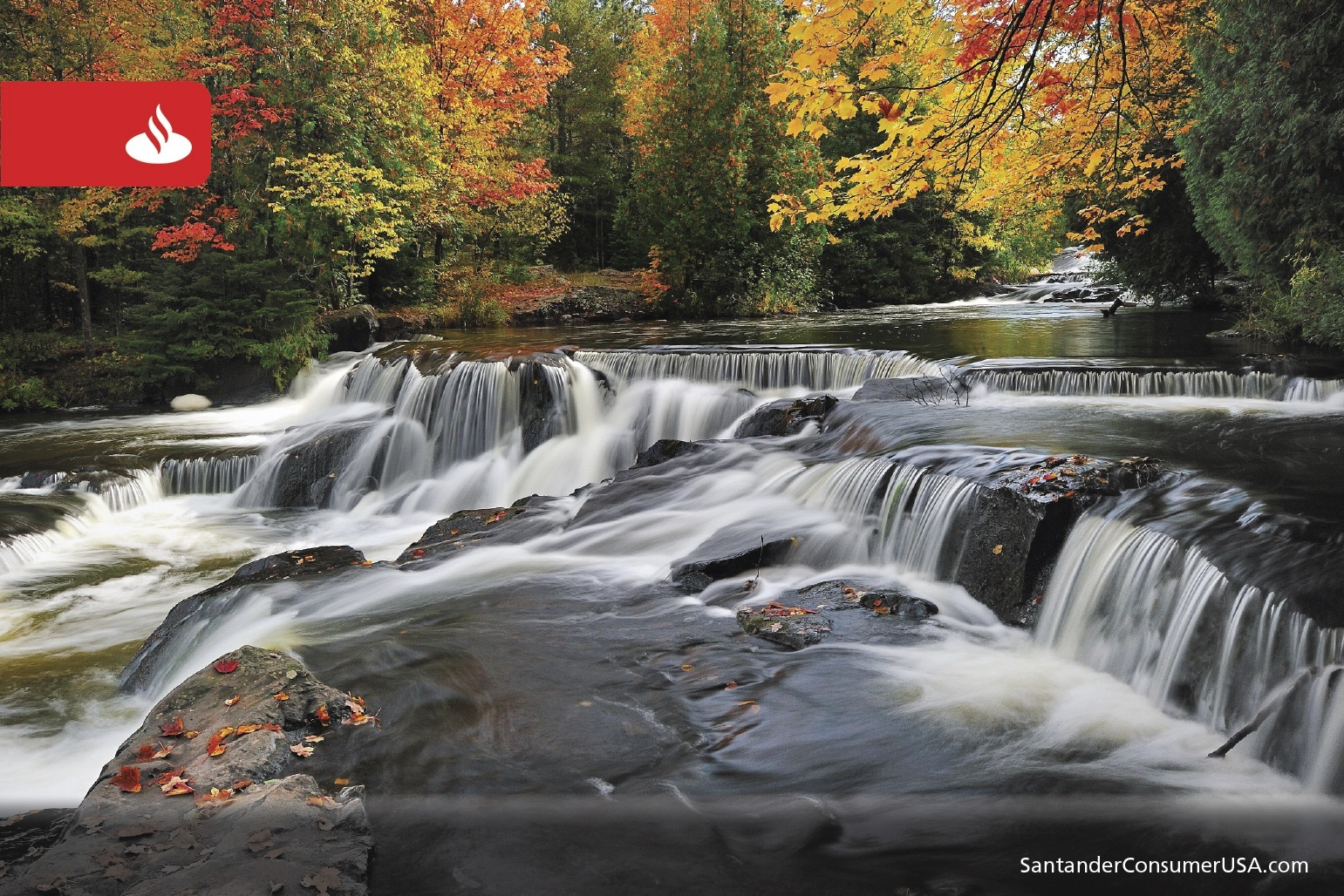Bond Falls on the Ontonagon River on Michigan's Upper Peninsula.