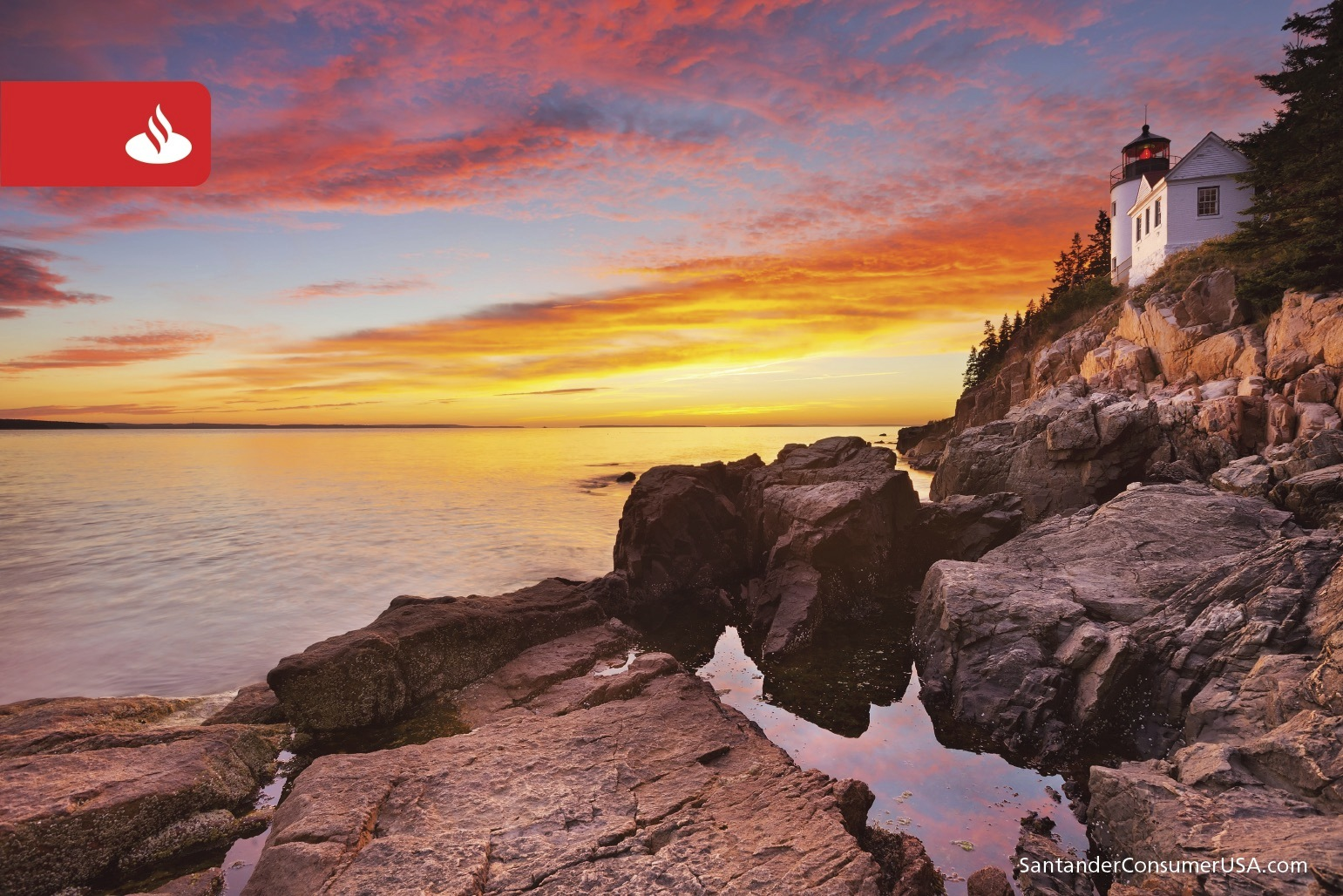 A dazzling sky over Mount Desert Island in Acadia National Park.