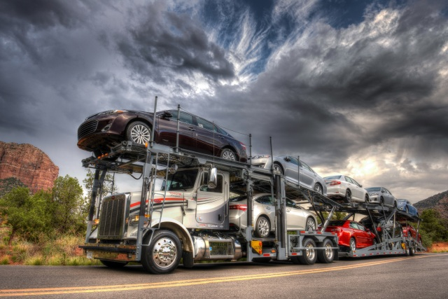 A Truckload Of Toyota Cars Headed To Loyal Customers