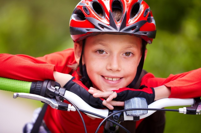 Youngster on bike