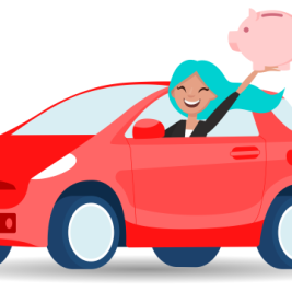 What is a simple-interest contract in auto financing?