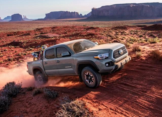 Toyota Tacoma in desert