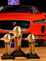 Jaguar I-PACE with three trophies