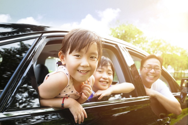 Family roadtrip with car care tips