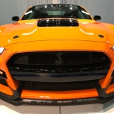 Orange Ford Shelby Mustang