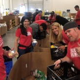 SC volunteers working at food bank