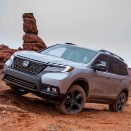 Honda Passport on rocky terrain
