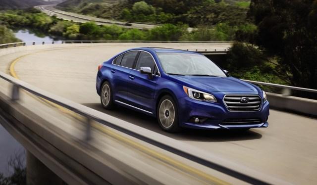 Subaru Impreza on the highway
