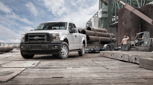 Ford F-150 pickup at work