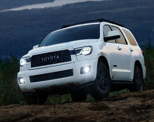 Toyota Sequoia rock climbing