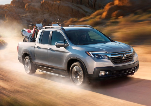 Honda Ridgeline on dusty road