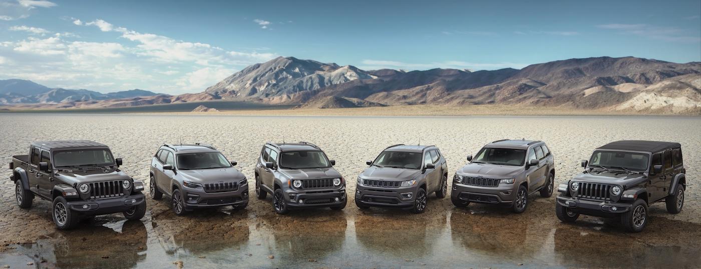 Jeep anniversary lineup