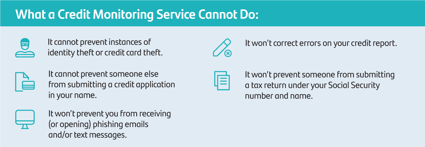 What a credit monitoring service cannot do