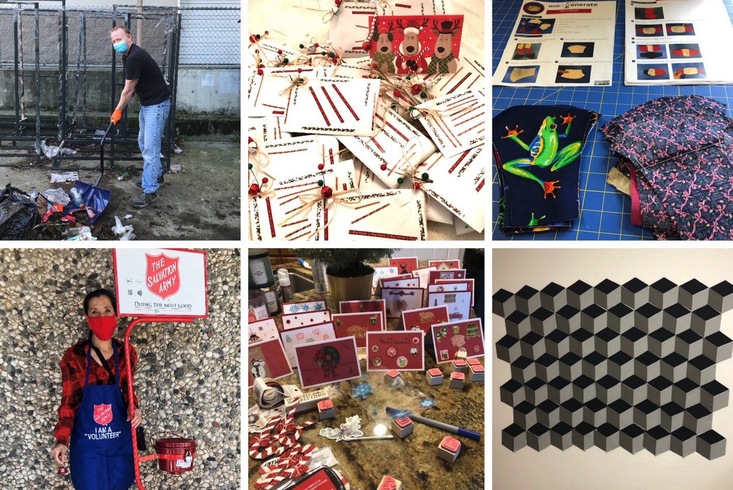 SC volunteering projects collage